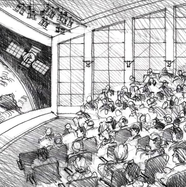 Drawing Auditoriums Traditional And Hybrid Methods Jim