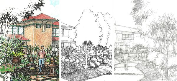 Landscape architects that can draw abdul hakim kussim for Landscape architect drawing