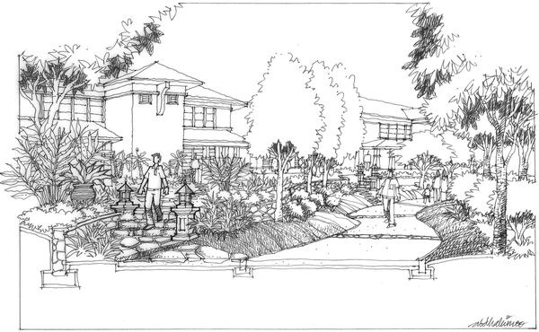 Landscape Architects That Can Draw! - Abdul Hakim Kussim - Jim Leggitt / Drawing Shortcuts