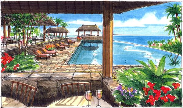 Using Sketches To Design A Costa Rican Resort Jim