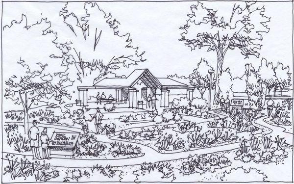 Quick sketches for a park improvement project jim leggitt drawing shortcuts
